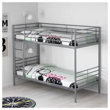 "SV""RTA Bunk bed frame Silver colour 90x200 cm IKEA"
