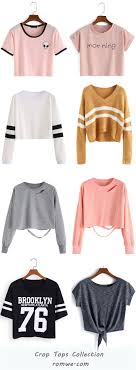 Crop Tops Collection - romwe.com los top es una buena opcion q deberia haber