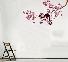 cute girls monkey wall decals decor