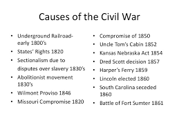 causes of the civil war list causes of the civil war 2