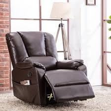 canmov breathable bonded leather swivel rocker recliner chair classic and traditional 1 seat sofa manual