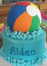 Beach Ball Cake Decorations Stunning Beach Ball Cake Fondant Beach Ball Cake For A Pool Party Birthday