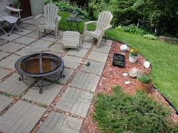 exterior brick patio alluring design ideas of diy back with green grass and wooden borders