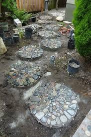 outdoor garden best 25 concrete round stepping stones