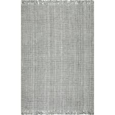 chunky loop jute grey 3 ft x 12 ft runner rug