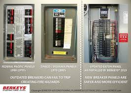 old electric panel breaker fuse boxes should be inspected and berkeys licensed electricians in dallas fort worth show images of older electrical breaker panels compared to