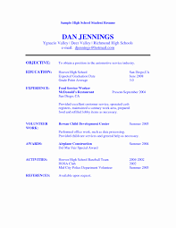 Example College Resume High School Senior Awesome Resume Template