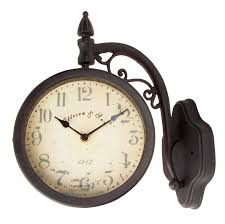 expressions of time offers outdoor clocks you ll find clocks with temperature and humidity settings as well as lamppost style free standing outdoor clocks