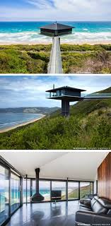 F2 Architecture have designed the Pole House, perched high above the scenic  Great Ocean Road
