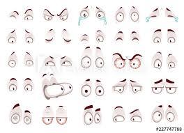 Funny Face Templates Cartoon Eyes Comic Eye Staring Gaze Watch Funny Face Parts
