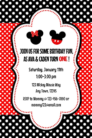 mickey and minnie invitation templates mickey minnie twins 2 invitation and by melissastanleydesign