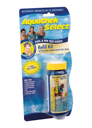 Aquachek Select Color Chart Water Test Strips 7 In 1 Refil