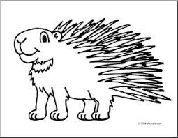 Small Picture Clip Art Cartoon Porcupine coloring page I abcteachcom abcteach