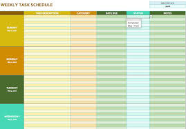 Weekly Task Schedule Task Scheduler Template Printable Schedule Template