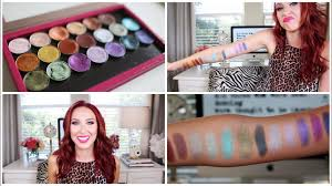 makeup geek foiled eyeshadow review swatches jaclyn hill