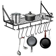 kitchen hanging pot pan rack storage