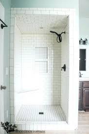 tiled shower insert drywall recessed shower shelf