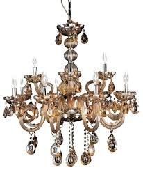 light champagne color crystal chandelier chrome finish colored prisms traditional chandeliers