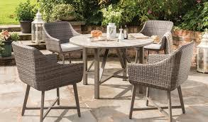 lamode 4 seater garden furniture set lamode dining table detail
