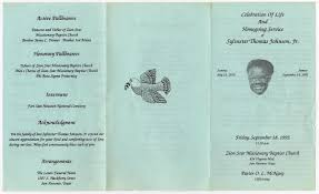 Funeral Program for Sylvester Thomas Johnson, Jr., September 18, 1992] -  Page 3 of 3 - The Portal to Texas History