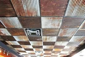 corrugated metal ceiling corrugated metal ceiling tiles drop tin look antique white reclaimed light met rustic