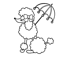 Small Picture Poodle with sunshade coloring page Coloringcrewcom