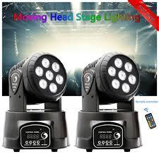 Blizzard Lighting Flurry 5 2x 105w Rgbw Wash 7led 9 14ch Dmx Mini Moving Head Stage Light Lighting Dj Disco