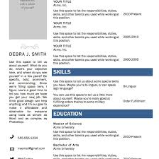 Word 2010 Resume Template Free