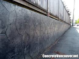 stamped concrete retaining wall overlay in burnaby bc