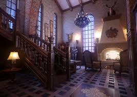 Amazing Classic Gothic Home Interior Design Rendering With Dark - Victorian house interior