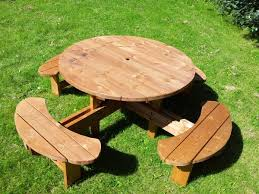 5 supersized excalibur round picnic tables benches delivered uk mainland