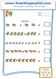Free printable worksheets - Pictorial Addition - Worksheet 2