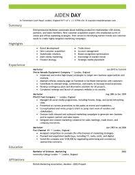 Marketing Resume Examples Berathen Com