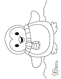 New year or christmas cute coloring page. Penguin Coloring Pages Penguin Coloring Pages Penguin Coloring Christmas Coloring Pages