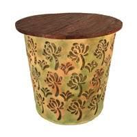 metal drum table. Eangee Home Design Outdoor Metal Drum Table Series- D H