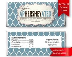 hershey candy bar wrapper candy bar wrapper etsy