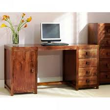 wooden study table with storage space made in solid sheesham wood