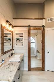 barn door bathroom mirror