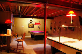 games room lighting. Interior Design Games For Adults And Game Room Ideas In Basement With Round Wooden Table Lighting