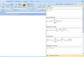 create an equation equation doentation microsoft office word 2007 tutorial