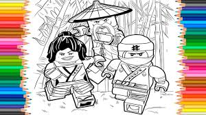 The Lego Ninjago Movie 2017 Coloring Pages Videos For Children Coloring Book Learn Colors Kids