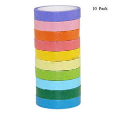 XINGYU LCIYSSC Pack 10- <b>Solid Colored Candy</b> and Paper Tape ...