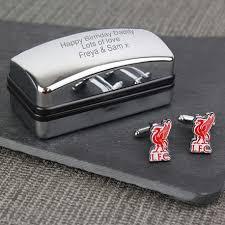 personalised liverpool fc cufflinks gift set