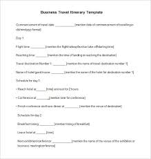 Examples Of An Itinerary 17 Travel Itinerary Templates Free Sample Example Format