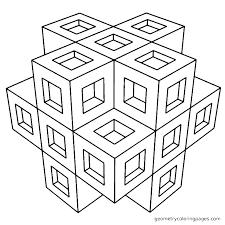 Geometric Coloring Page Uticureinfo