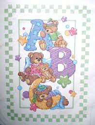 Baby Abc Quilt Stamped Cross Stitch By Dimensions Baby Hugs New ... & Dimensions Crafts Abc Bears Baby Quilt Stamped Cross Stitch Kit 72965 Bucilla  Cross Stitch Baby Quilts ... Adamdwight.com