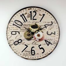 Coffee Decorations For Kitchen Brand Kitchen Wall Clock With Waterproof Clock Face Coffee