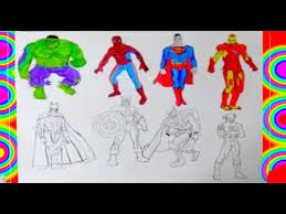 2020 popular 1 trends in cellphones & telecommunications, mother & kids, luggage & bags, home & garden with cute cartoon hulk and 1. All Superheroes Coloring Pages 2 Superman Hulk Captain America Thor Flash Batman Spiderman Youtube