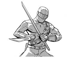 Small Picture GI Joe Snake Eyes Drew His Sword Coloring Pages Batch Coloring