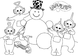 Small Picture Snow Teletubbies Coloring Pages Free Coloring Pages For Kids